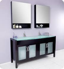 Fresca Bathroom Accessories Fresca Infinito Espresso Modern Double Sink Bathroom Vanity W