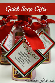 Food Gifts For Christmas Michelle Paige Blogs Quick Soap Gift For Christmas