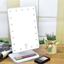 hardwired lighted makeup mirror 10x hardwired lighted makeup mirror 10x inch tabletop double sided led 8