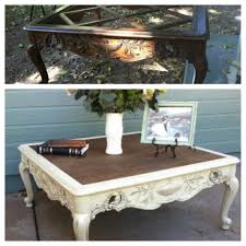 Dining Room Table Refinishing French Provincial Coffee Table Painted Refinished White And Sealed
