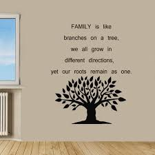 family tree quote sticker vinyl wall free shipping on orders