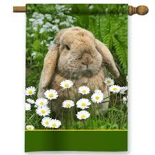 rabbit garden floppy ears bunny rabbit personalized garden house flag