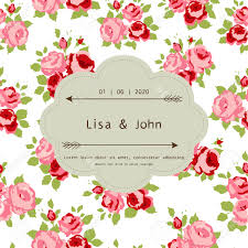 abstract roses shabby chic background with space for text wedding