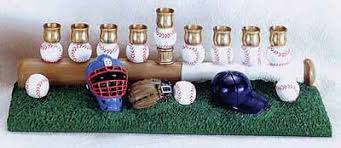 sports menorah hanukkah menorahs contemporary menorahs baseball menorah