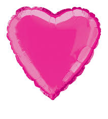 smack the pack balloon valentines hot pink heart shaped foil balloon 18 code bfhhp 18 shimmering