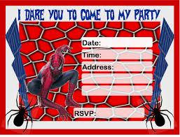 birthday invitation free printable spiderman spiderman 4th