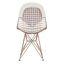 White Rose Furniture Mildred White Rose Modern Side Chair Eurway Modern