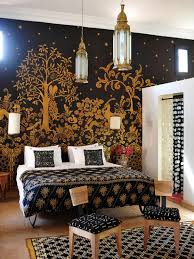 Black Damask Wallpaper Home Decor 15 Design Trends From The 1990 U0027s We U0027re Totally Digging Right Now