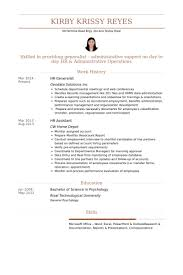 Hr Generalist Sample Resume by Sample Human Resources Generalist Resume Cuny Honors Essays