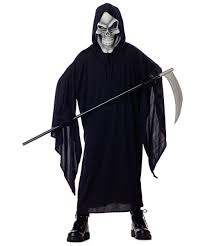 Boys Kids Halloween Costumes Grim Reaper Costume Child Halloween Costume Scary Halloween