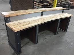 Reception Desk Wood by Restaurant Office Sleek Metal Front Reception Desk The
