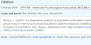 exporting citations bibliographies in proquest and scopus the