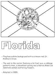 florida state flag coloring page funycoloring