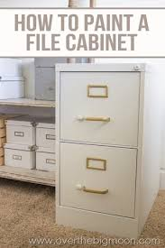 Diy Desk With File Cabinets Adorable Diy File Cabinet File Cabinet Makeover In My Own Style