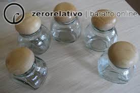 vasetti portaspezie per sarobi porta spezie in legno con 5 barattolini in vetro col