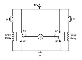 dual relay dc motor driver