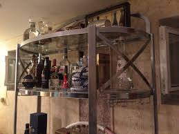 Metal Bakers Rack With Wine Storage Bakers Racks Metal Bakers Rack With Wine Storage Metal Rack With