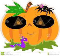 pumpkin mask for halloween halloween pumpkin mask with spider and snake royalty free stock