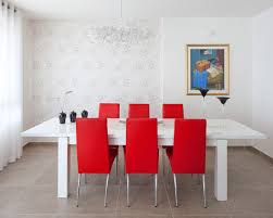 White Dining Table And Coloured Chairs Chairs Modern Dining Room White Dining Table Paired With A
