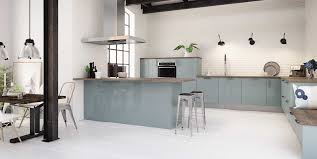 cuisine hygena cuisine hygena modèle astral bleu style industriel cuisines