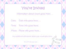 baby shower invite templates thebridgesummit co