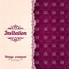 Free Invitation Cards Template Invitation Card Template With Curly Border And Damask Background