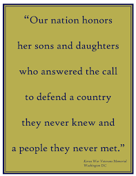 quotes for thanksgiving day quote from korean war veteran u0027s memorial in dc on the memorial day
