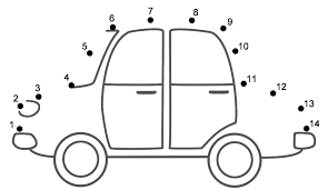 Car Worksheet Car Connect The Dots Count By 1 S Transportation