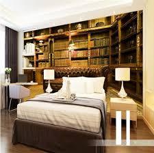 bibliothek wohnzimmer benutzerdefinierte 3d wandbild tapete europäischen stil