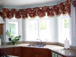 bay window kitchen ideas kitchen fascinating kitchen valances for bay windows cool window
