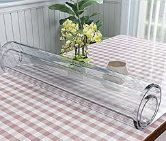 dining table cover clear amazon com valley tree clear table cover protector 1 5mm thick pvc