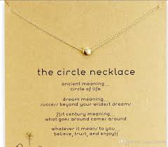 meaning necklace images Wholesale with card cute dogeared necklace with little beancircle jpg