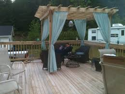 Pergola With Curtains Pergola Curtains For Around The Tub Covered With Plastic