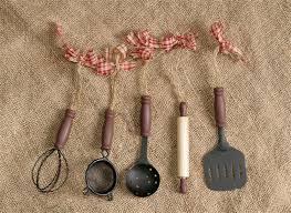 amazon com set of 5 kitchen utensil ornaments home u0026 kitchen
