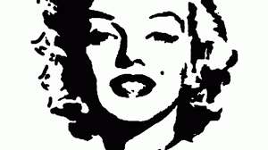 marilyn black and white drawing silhouette tattoos