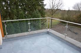 escalier garde corps verre garde corps inox extérieur avec pinces verre carrées escaliers somme