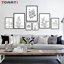 Livingroom Wall Art Black And White Flower Canvas Wall Art Promotion Shop For