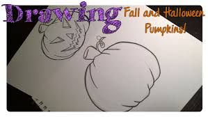 how to draw a halloween pumpkin 2 ways youtube