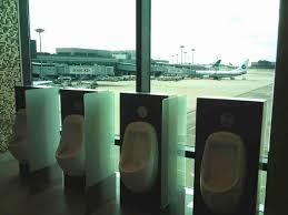 Floor Urinal by Open Men U0027s Room Urinals Face Floor To Ceiling Windows Great