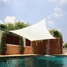 Shadee Awnings Medium Square Sail Extra Heavy Fabric Sun Shade Free Shipping