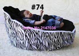 zebra baby bean bag style polyester material beanbag chair fabric