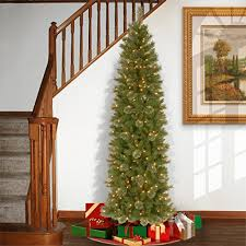 national tree 7 5 foot tacoma pine pencil slim tree with 350 clear