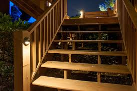 solar lights for deck steps solar powered outdoor stair lights on a terrace of fabulous