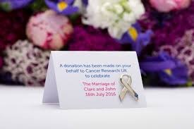 make a difference with cancer research uk wedding favours love