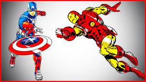 ironman vs captain america coloring pages lets color youtube