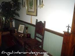 Masonite Wainscot Natural Wood Vs Painted Wood Chair Rail Dining Room Pinterest
