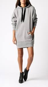 hooded sweatshirt dress by t by alexander wang for sale at azalea