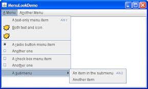 Pop A Top Bar How To Use Menus The Java Tutorials U003e Creating A Gui With Jfc
