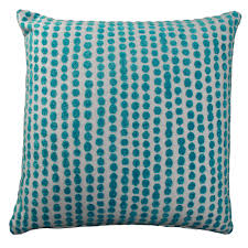 Custom Patio Furniture Cushions by Outdoor Pillow Polka Dot Sunbrella Aruba Turquoise Fabric