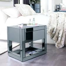 side table mirrored cube side table reflect bedside astoria